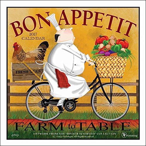 TF Publishing Bon Appetite 2017 Wall Calendar