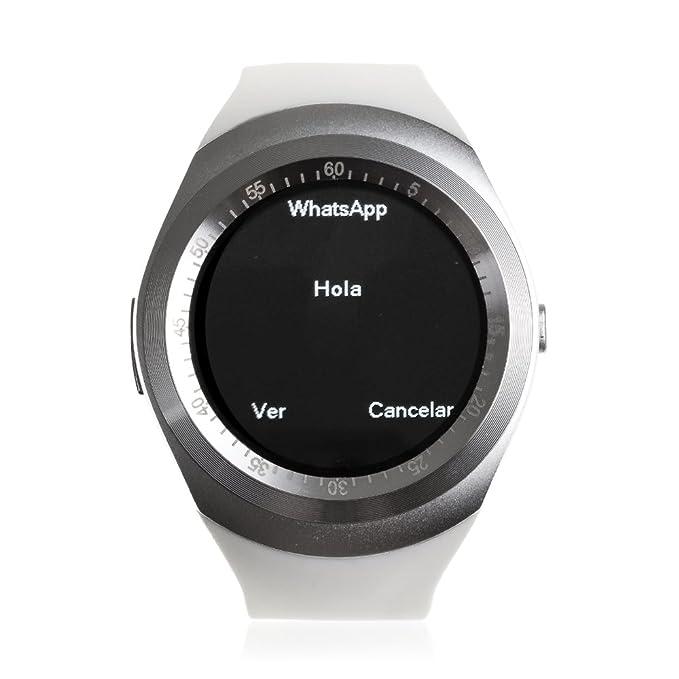 DAM TEKKIWEAR. SMARTWATCH Bluetooth con Pantalla Circular, SIM Y ...
