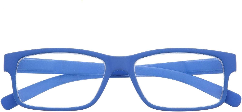 DIDINSKY Gafas de Presbicia con Filtro Anti Luz Azul para Ordenador. Gafas Graduadas de Lectura para Hombre y Mujer con Cristales Anti-reflejantes. 6 colores y 6 graduaciones – THYSSEN