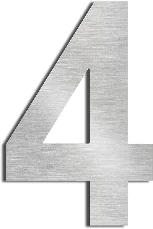 12in number 2 Nanly Chiffres de maison en acier inoxydable 304 massif aspect flottant 30,5 cm Facile /à installer