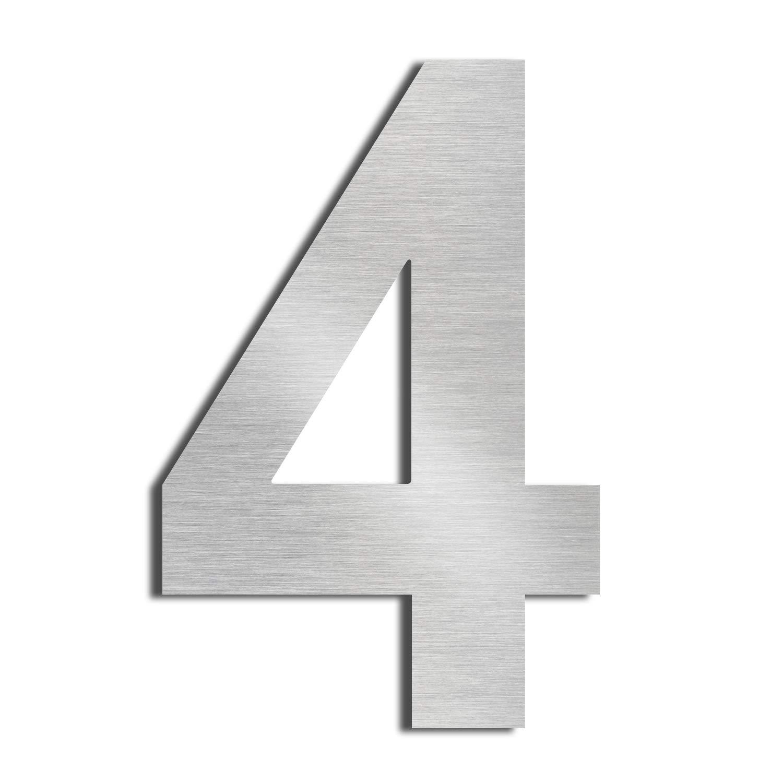 Nanly House N/úmero 5 Cinco hecho de acero inoxidable 304 s/ólido flotante apariencia 20,5 cm 8 en f/ácil de instalar 7