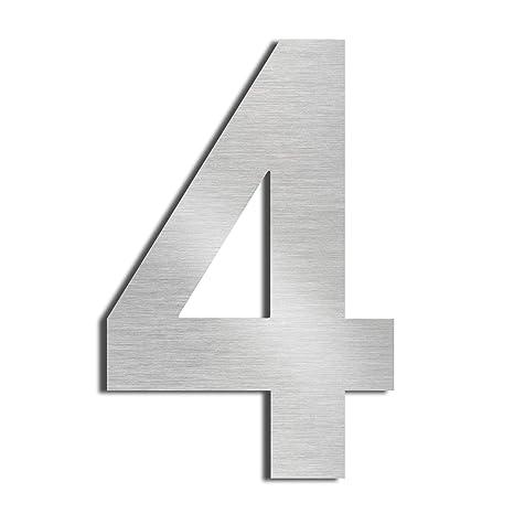 Nanly House Número 5 Cinco hecho de acero inoxidable 304 sólido flotante apariencia 20,5 cm 8 en fácil de instalar, 4