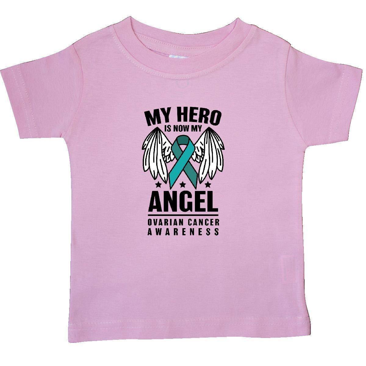 inktastic My Hero is My Angel Ovarian Cancer Awareness Baby T-Shirt