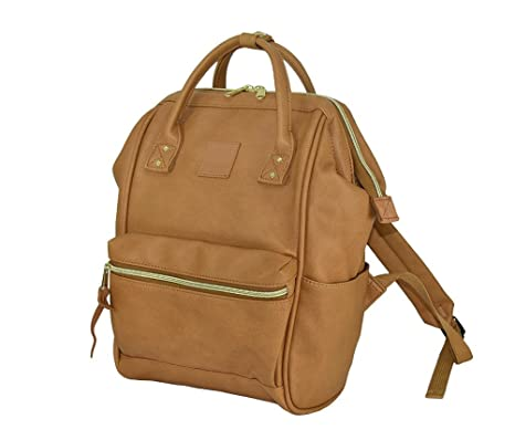 f4bb7c8e5e77 Japan Anello Backpack Unisex CAMEL BEIGE MINI SMALL PU LEATHER Rucksack Bag  Campus  Amazon.ca  Luggage   Bags