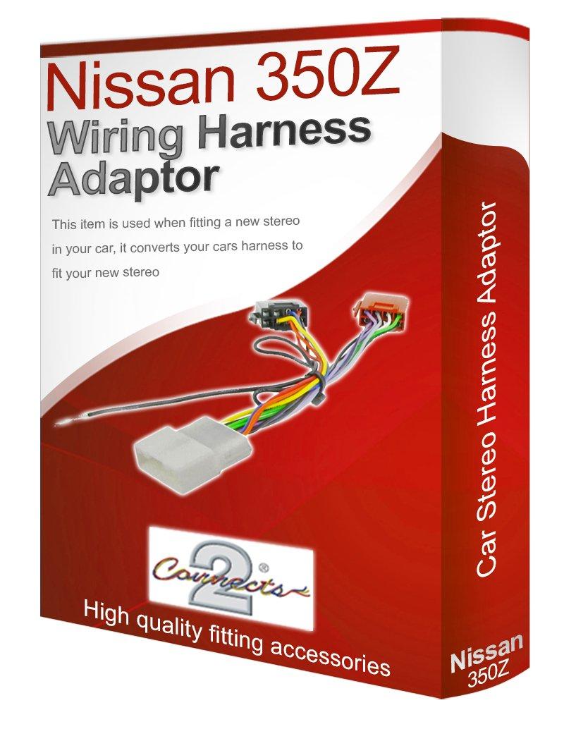 nissan 350z cd radio stereo wiring harness adapter lead amazon co nissan 350z cd radio stereo wiring harness adapter lead amazon co uk electronics