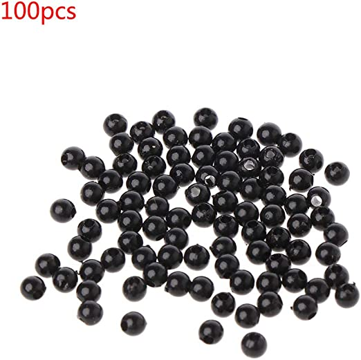 100Pcs Black Plastic Safety Eyes Noses for Puppet Bear Doll Animal Stuffed Toys DIY Sewing Craft Diameter-3mm