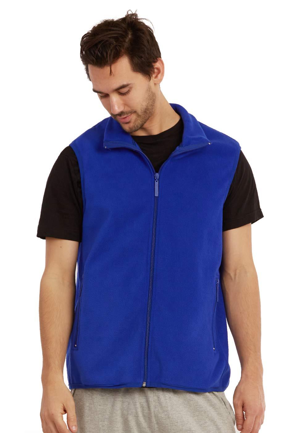 ET TU Men's Zip Up Polar Fleece Vest (L, Royal Blue) by ET TU