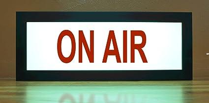 amazon com on air recording tv studio led illuminated sign