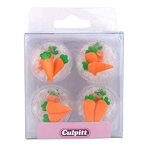 12 Sugar Decorations vegetable garden - Carrots