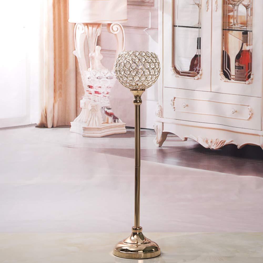 2pcs, 33/&38cm de Haut VINCIGANT Chandelier Mariage Bougeoir Cristal Argent/é de Bol Rond Vase Mariage pour D/écoration de Centre de Table Noel Cadeau Anniversaire Emballage de Bo/îte Cadeau