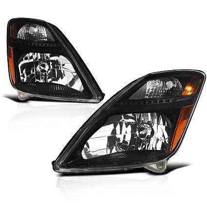 VIPMOTOZ Black Housing OE-Style Headlight Headlamp Assembly For 2006-2009  Toyota Prius Halogen Model, Driver & Passenger Side