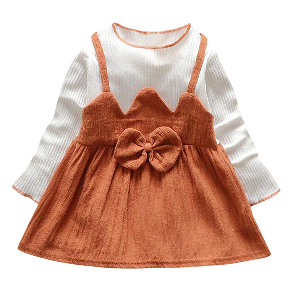 Allence Baby M/ädchen Kleid Blumen Drucken /Ärmellos Kleider Freizeit Urlaub Prinzessin Sommerkleid Outfit Kleidung