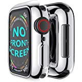 Hankn for Apple Watch Case 44mm SE Series 6 5 4 Plated Soft TPU Anti-Scratch Shockproof Protective Screen Iwatch Shell Cover