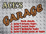 Best Sign Ace Of Diamonds - ACE Garage tool rules diamond plate design parking Review