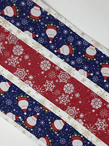 Christmas Table Runner Quilt.Amazon Com Christmas Table Runner Quilt Santa Claus
