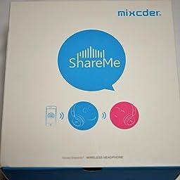 Amazon Co Jp Mixcder Shareme ワイヤレス Bluetooth ヘッドホン 密閉型 Shareme機能付き レッド 家電 カメラ