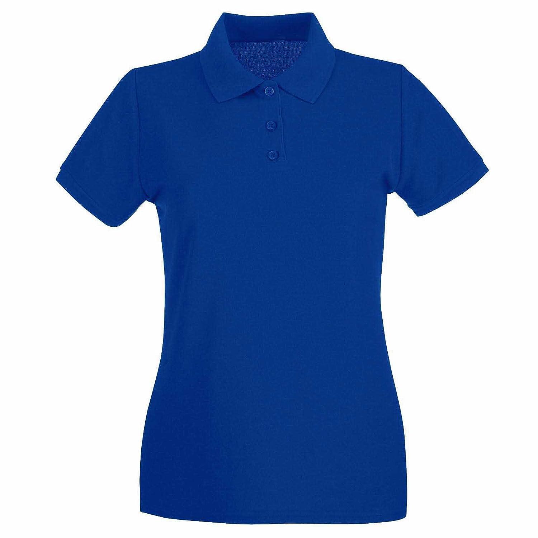 Ladies Classic Pique Polo Shirt Royal 22