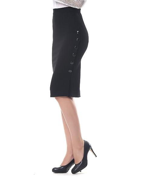 2e9398883e Kenancy Mujer Midi Faldas Tubo Largas Cintura Alta Elegante Falda de Lápiz  Danza Elástico S - 5XL  Amazon.es  Ropa y accesorios