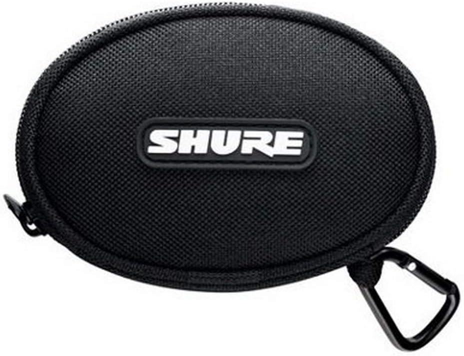 Shure EASCASE Soft Zippered Pouch for Shure Earphones, Black