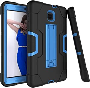 Galaxy Tab A 8.0 case 2018, Bingcok Full-Body Hybrid Shockproof Drop Protection Cover with Kickstand for Samsung Galaxy Tab A 8.0 2018 Model SM-T387 Verizon/Sprint/T-Mobile (Black+Blue)