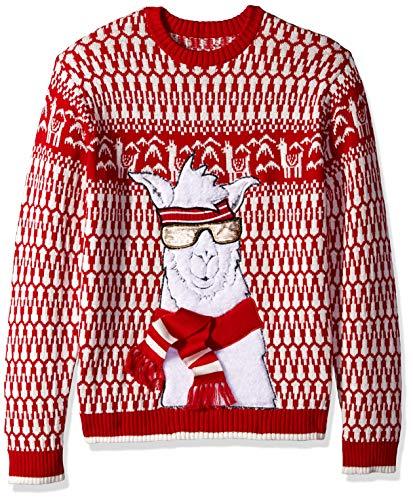 fa5b3959a91 Blizzard Bay Men's Ski Slopes Llama Ugly Christmas Sweater, X-Large
