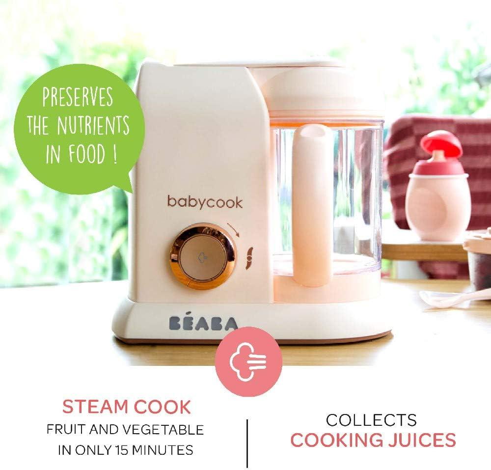 UK IMPORT - Color: Rose Gold B/éaba Babycook Solo MACARONS Edici/ón Limitada Robot de cocina 4-en-1