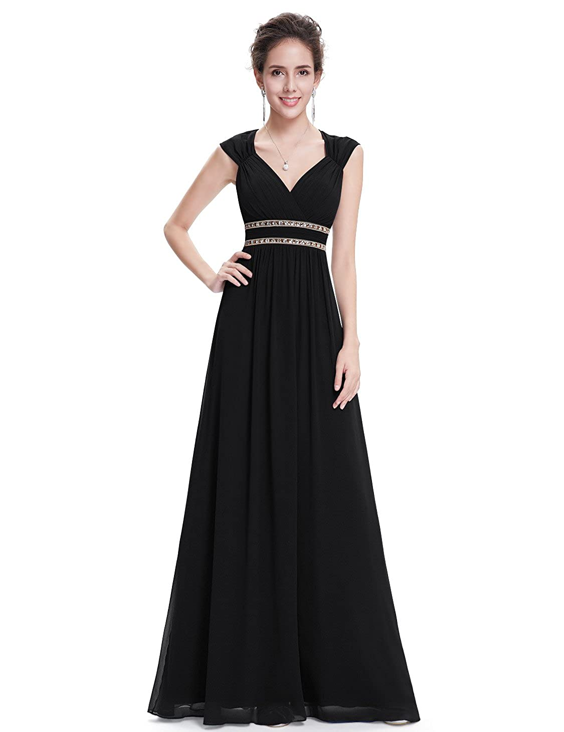 44bd97dab62 Ever-Pretty Women s Elegant V-Neck Sleeveless Formal Long Evening Dress  08697 at Amazon Women s Clothing store
