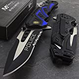 SairusPlay 7.5'' MTECH USA POLICE RESCUE SPRING ASSISTED TACTICAL FOLDING POCKET KNIFE Open