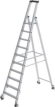 Günzburger - Escalera de tijera (plegable en un sentido, con ruedas, altura máxima: 4,5 m): Amazon.es: Bricolaje y herramientas
