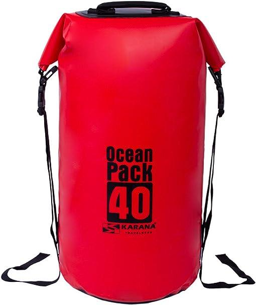 Karana Ocean Pack impermeable seco Bolsa 40 Litros (112062740), color rojo 1 pcs.: Amazon.es: Deportes y aire libre