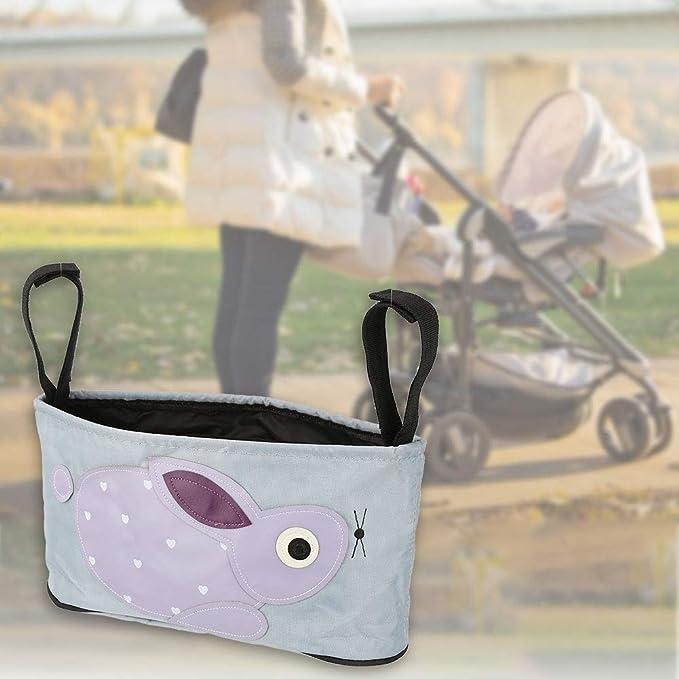 BLACK CLIPPASAFE BABY STROLLER//PUSHCHAIR NET STORAGE BAG