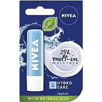 NIVEA Lip Balm Hydro Care with SPF 15 (4.8g), Hydrating Lip Balm with Aloe Vera, Moisturising Lip Care with Natural Oils…