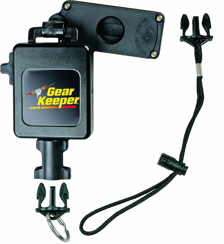 Gear Keeper RT3-7612 Retractable Instrument Tether with Clamp On Multi-Mount Belt Clip, 80 lbs Breaking Strength, 12 oz Force, 42'' Extension