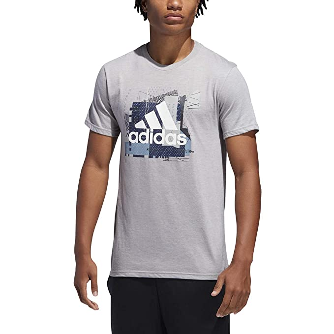adidas Badge of Sport Sport Layer Tee Medium Grey Heather MD