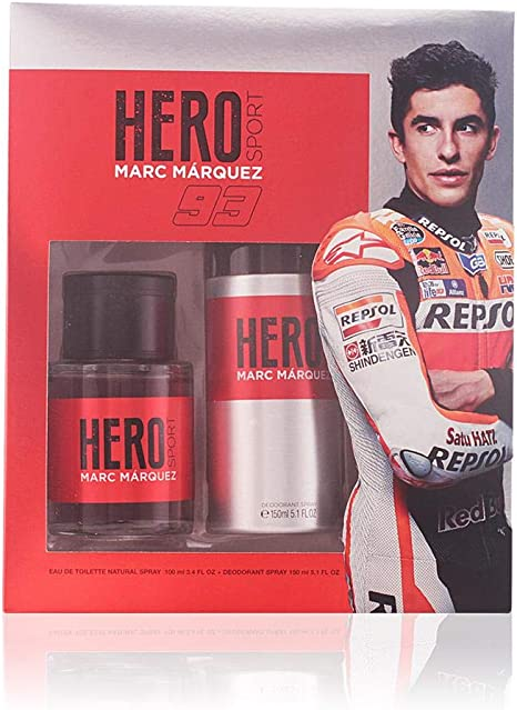 HERO Sport pack Marc Marquéz colonia 100 ml + desodorante 150 ml: Amazon.es: Belleza
