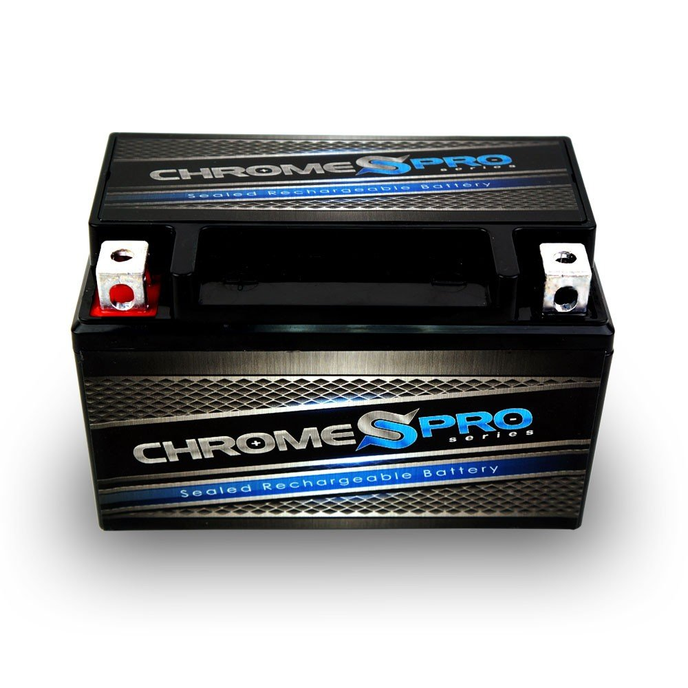 Rechargeable YTX7A-BS Motorcycle Battery - Replacement for CTX7A-BA, GTX7A,PTX7A-BS - High Performance - Maintenance Free - Sealed - Chrome Pro Battery by Chrome Battery