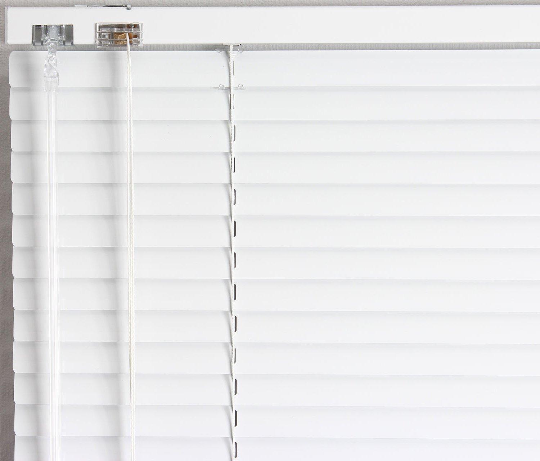 EFIXS Alu-Jalousie Alu-Jalousie Alu-Jalousie - Farbe  weiss - Höhe  160cm - Breite im Angebot wählbar - hier  230 x 160 cm (Breite x Höhe) - Aluminium-Jalousie B0742NMYQ4 Jalousien cddce8