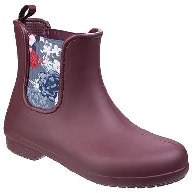 f6b24421ab3ca2 Amazon   [クロックス] レディース Freesail チェルシーブーツ 婦人靴 レインブーツ 長靴 カジュアル 女性用   レインシューズ