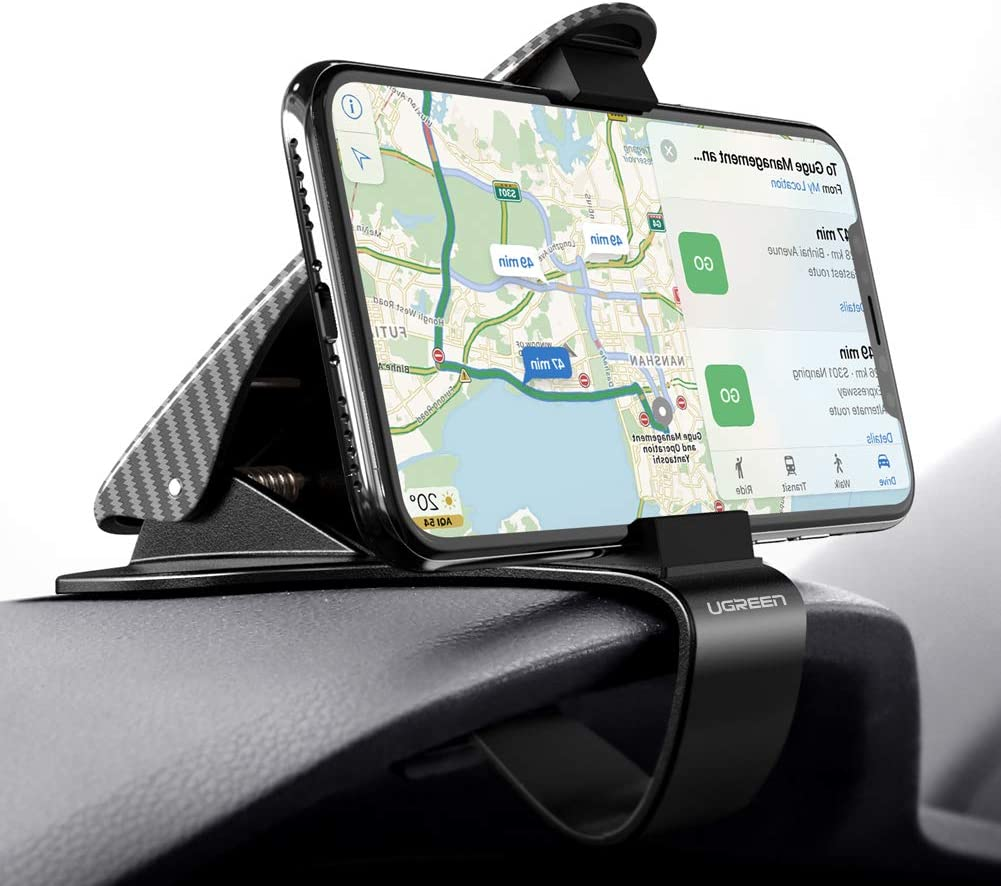 UGREEN Car Phone Mount Dashboard Clip Cell Phone Holder HUD Compatible for iPhone 11 Pro Max Xs Max XR X 8 7 6 Plus 6S 5 Samsung Galaxy S10 S9 S8 Plus Note 9 8 Google Pixel 3 XL LG V40 V30 G7 G6