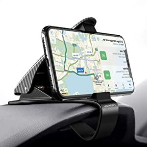 UGREEN Car Phone Mount Dashboard Clip Cell Phone Holder HUD Compatible for iPhone 11 Pro Max Xs Max XR X 8 7 6 Plus 6S 5, Samsung Galaxy S10 S9 S8 Plus Note 9 8, Google Pixel 3 XL, LG V40 V30 G7 G6