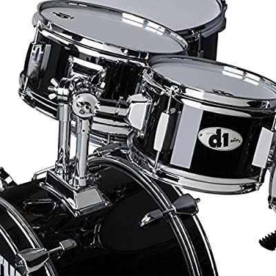 ddrum D1 Junior Complete Drum Set with Cymbals, Midnight Black: Musical Instruments
