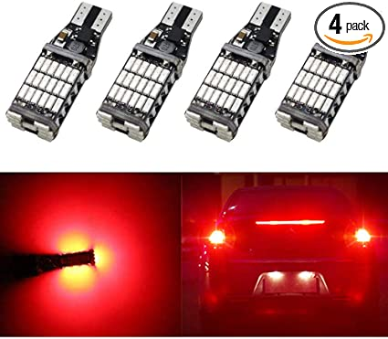 2x Red Car T10 W5W Tail Bulb Clearance Lamp Canbus Error Free 24 2835 SMD LED A1