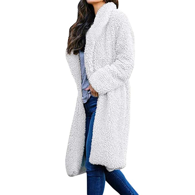 KCatsy Donna Plus Size Oversize Cappotto Giacche Dust Color