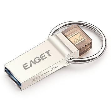 EAGET V90 64GB Doble uso del USB 3.0 Micro USB Flash Drive ...
