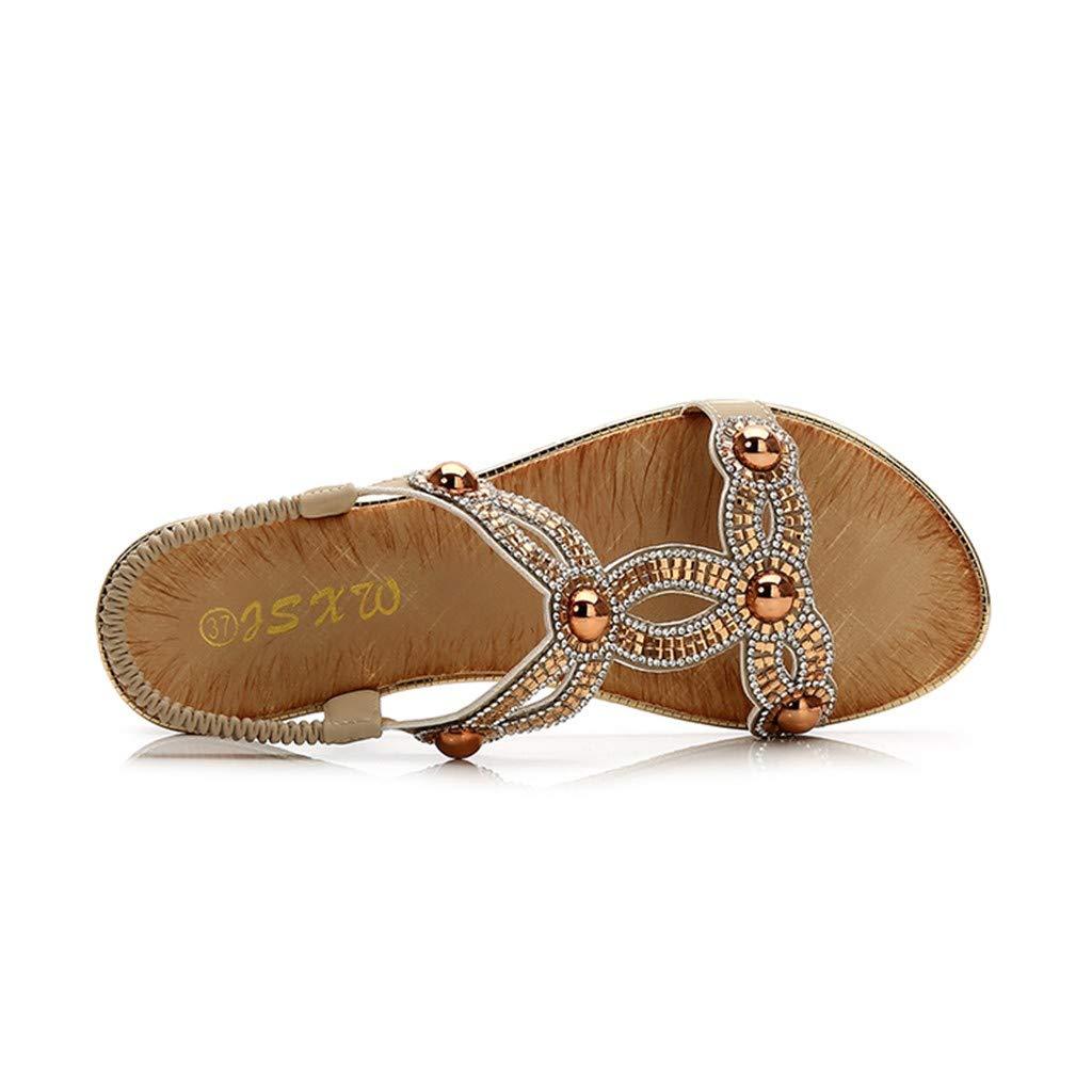 Summer/Women Ladies Crystal Flat Bohemia Sandals Beach Casual Peep Toe/Shoes