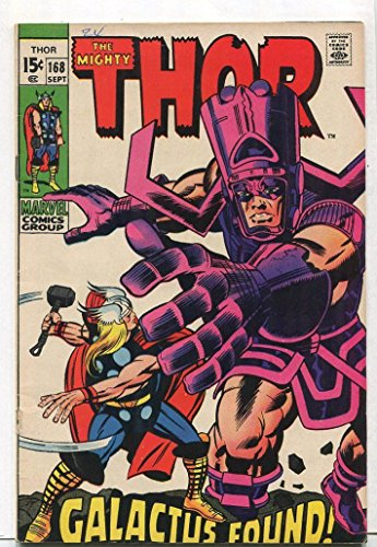 The Mighty Thor #168 FN- Galactus Found Marvel Comics SA
