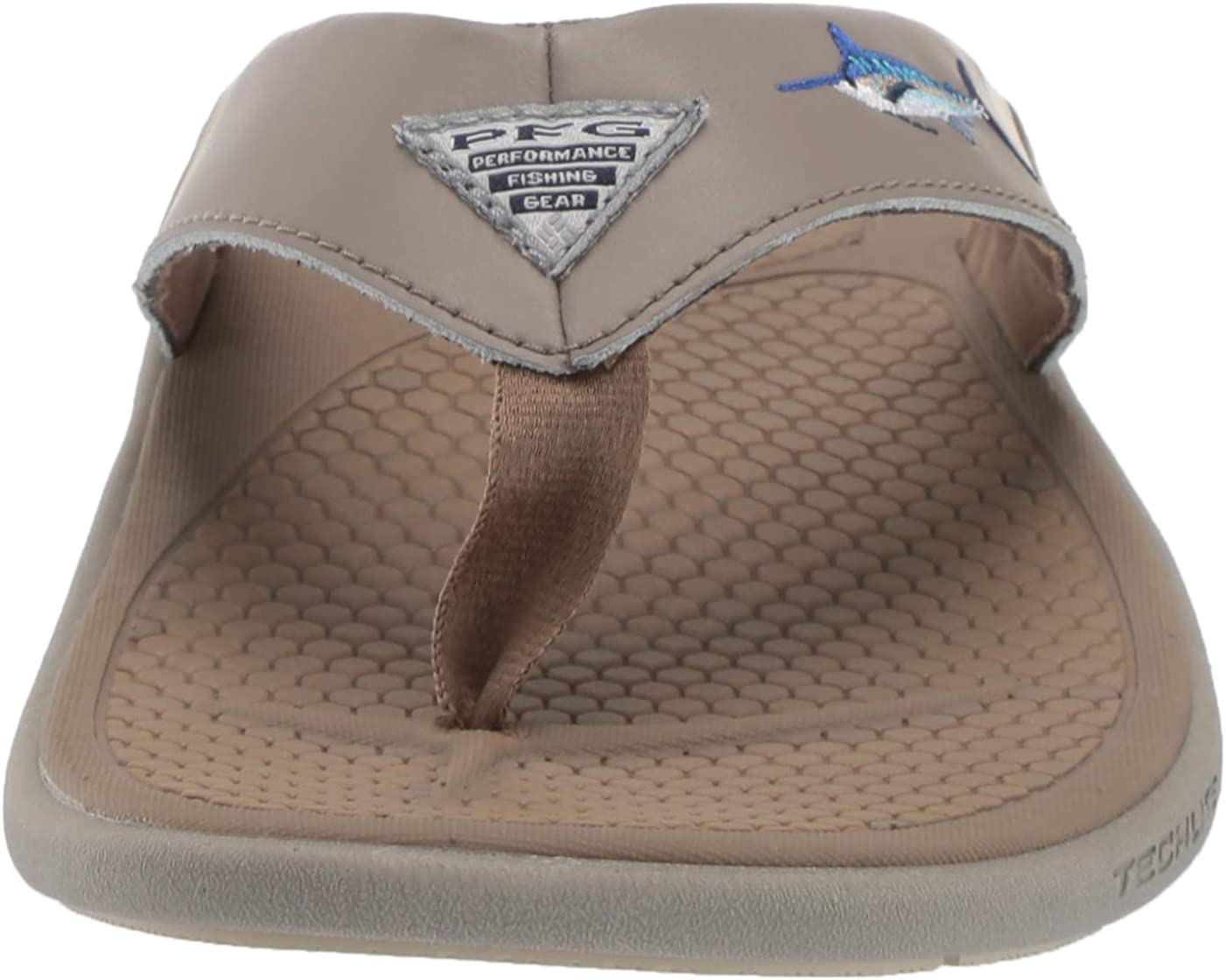 Wet-Traction Grip Columbia Mens PFG Fish Flip Sandal Molded Insole