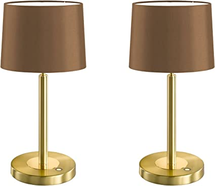 Juego de 2 LED Toulouse – Lámpara de mesa con regulador de ...
