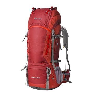 Cima de la montaña grande 80L Mochila impermeable al aire libre que acampa yendo de viaje Trekking Mochila Unisex Aventura Bolsa, M5820: Amazon.es: Deportes ...