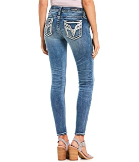 65949f8723d Amazon.com: VIGOSS Women's Skinny Chelsea Crop Jean, Medium Wash, 28 ...